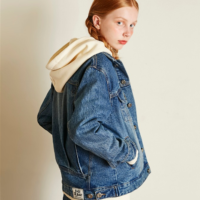 LOOSE FIT DENIM JACKET [BLUE]