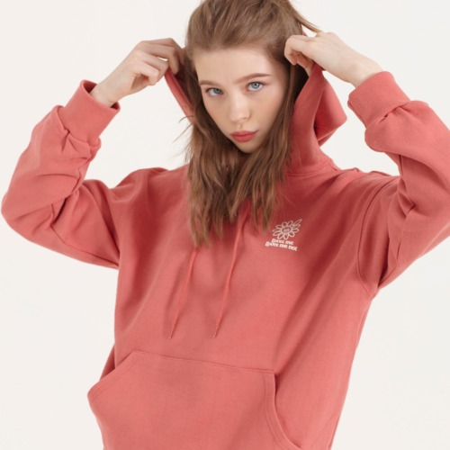LOVES ME LOVES ME NOT PRINT HOODIE [CHERRY PINK]